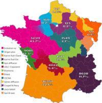 Répartition de l'activité IA en France en 2016